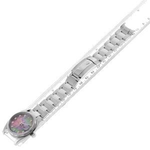 Rolex Datejust Steel White Gold MOP Diamond Mens Watch 116234