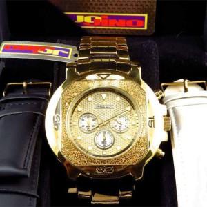 Jojo/Jojino MJ-1223 XL Big Face Stainless Steel .25 Ct Diamond  55 MM Mens Watch