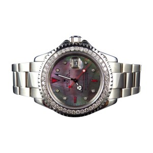 Rolex Yachtmaster 16622 Oyster Stainless Steel 3.5 Ct Diamond 40 mm Mens Watch
