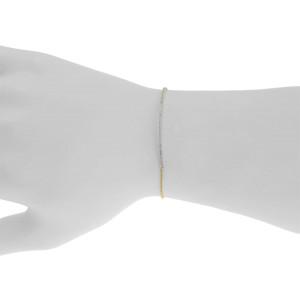 10K Yellow Gold Round Pave 0.40 ct Diamond Bar Chain Tennis Bracelet