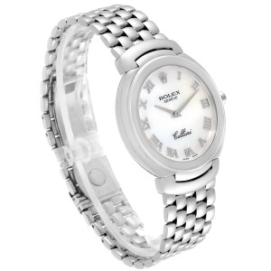 Rolex Cellini 18K White Gold Mother of Pearl Dial Mens Watch 6623