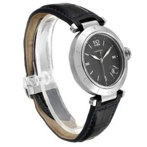 Cartier Pasha 38mm Gray Dial Steel Mens Watch W31017H3