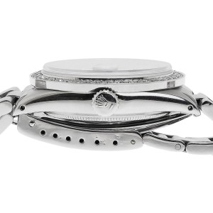 Rolex 36 mm Datejust Oyster Quickset Stainless Steel 2.5 Ct Diamond Mens Watch