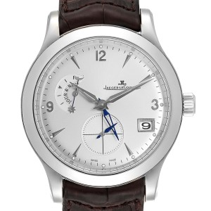 Jaeger Lecoultre Master Control Hometime Mens Watch 147.8.05.S Q1628420