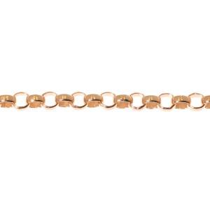 10K Rose Gold Ladies Round Pave Diamond Interlocking Heart Chain Bracelet