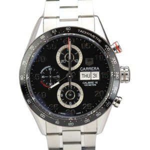 TAG Heuer Calibre 16 Carrera Automatic Chronograph Day Date Mens Watch CV2A10