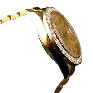 Rolex President Day-Date 18038 18k Yellow Gold Diamond Bezel Mens 36 mm Watch