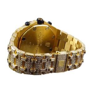 Audemars Piguet Royal Oak Offshore 18k Yellow Gold with 38 Ct Diamond 42 mm  Mens Watch