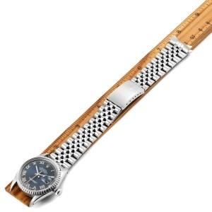 Rolex Datejust Blue Dial Steel Vintage Mens Watch 16030