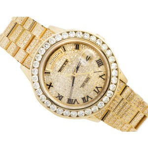 Rolex 18038 Day-Date Presidential Excellent 18K Yellow Gold 12 Ct Diamond Watch