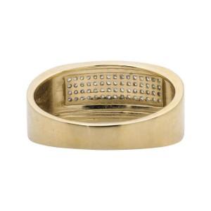 10K Yellow Gold Multi-Rows Round Cut Genuine Diamond Wedding Band Ring