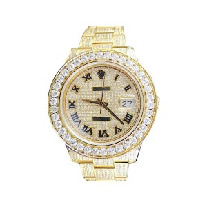 Rolex Date Just II 2 With Genuine Diamonds Yellow Gold 45mm Mens Watch