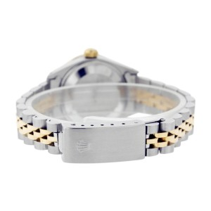 Rolex Datejust Oyster Perpetual Stainless Steel/18K Gold Blue Vignette Diamond Womens Watch