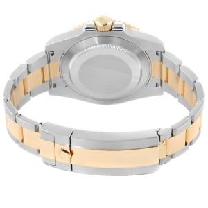 Rolex Submariner Steel 18K Yellow Gold Blue Dial Mens Watch 116613