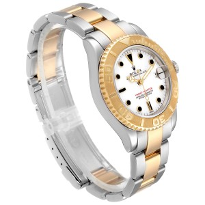 Rolex Yachtmaster 35 Midsize Steel Yellow Gold White Dial Watch 168623