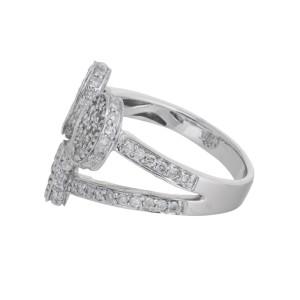Charming Unique 18k White Gold Diamond Ring