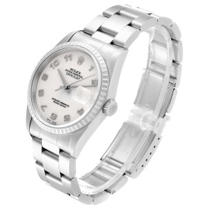 Rolex Datejust Anniversary Dial Oyster Bracelet Steel Mens Watch 16220
