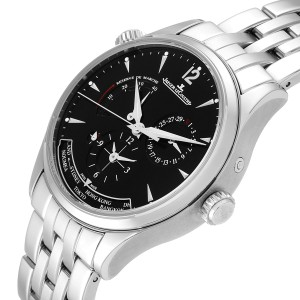 Jaeger Lecoultre Master Geographic Steel Mens Watch 176.8.29.S Q1428171