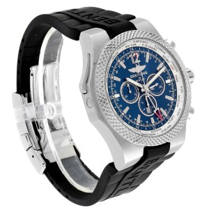 Breitling Bentley GMT Blue Dial Chronograph Steel Mens Watch A47362
