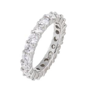 Platinum And Diamond Band Ring