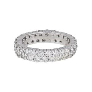 14K Double Row Diamond Band Ring
