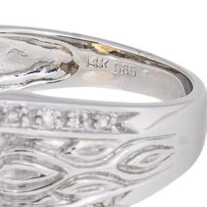 Attractive And Unique 14k White Gold Citrine And Diamond Ring