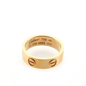 Cartier Love Band Ring 18K Rose Gold 4.75 - 49