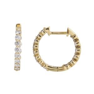 Dainty Elegant 18k Yellow Gold 0.63 Ct. Diamond Earrings