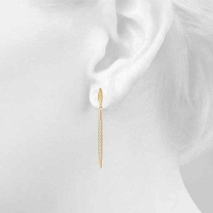 Diamond Spear-Drop Earrings