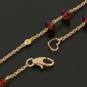 Ponte Vecchio 18k Rose Gold Diamonds & Garnet Design Necklace