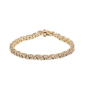 Dazling 14k Yellow Gold 2.75 Ct. Diamond Tennis Bracelet
