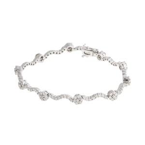 18k White Gold 2.10 Ct. Diamond Bracelet