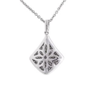 Heavenly Graceful 18k White Gold 0.52 Ct. Diamond Pendant Necklace