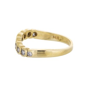 14K Yellow Gold Estate Diamond Band Ring