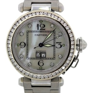 Cartier Pasha Custom Diamond Bezel 41mm Watch