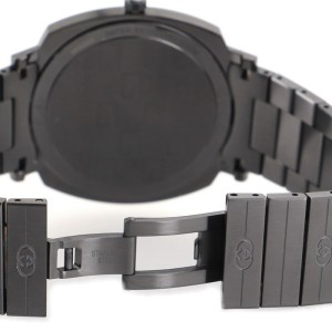 Gucci Grip Date Quartz Watch PVD Stainless Steel 38