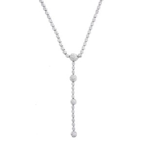 Stunning Dangling 18k White Gold 2.25 Ct Diamond Pendant
