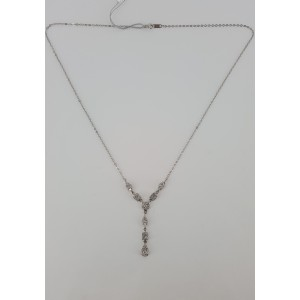 14K White Gold 1 1/4ct Diamond Necklace