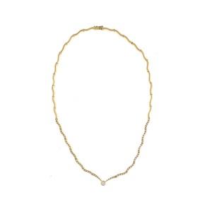 Elegant And Fashionable 18k Yellow Gold 0.80 Ct 71 Diamond Necklace