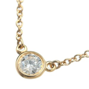 Tiffany & Co. 1P Diamond 18k Yellow Gold By the Yard Necklace