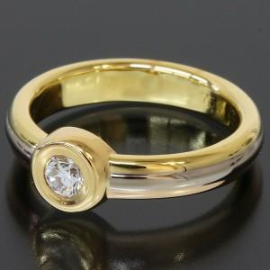 Cartier 18K Yellow 18K White 18K Rose Gold Diamond Mono Stone Ring TNN-1640
