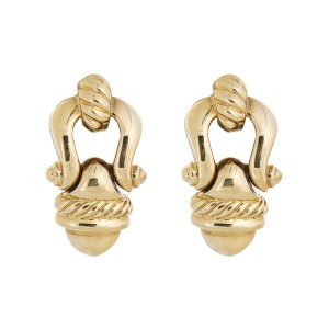 David Yurman 18K Yellow Gold Buckle Earring