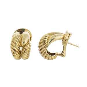 David Yurman 18K Yellow Gold Braided Earrings
