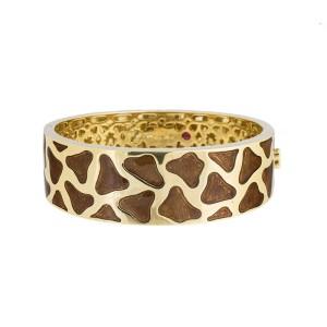 Roberto Coin Natura Giraffe 18K Yellow Gold Enamel Bracelet