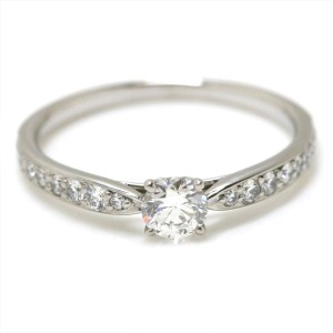 Tiffany & Co. Harmony Platinum with 0.28ct Diamond Engagement Ring Size 5