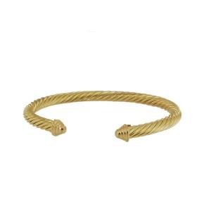 David Yurman Cable Yellow Gold Bangle Bracelet 5mm