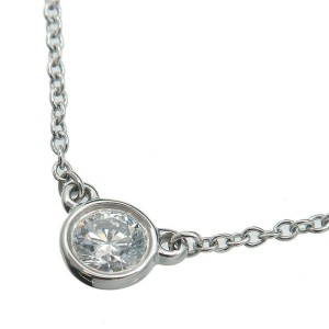 Tiffany & Co. 0.17ct Platinum 1P Diamond By the Yard Necklace