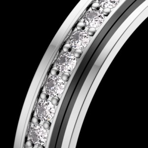 Piaget G34PT4 Platinum Diamonds Wedding Ring Size 7.25