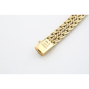 Tiffany & Co. Vintage 18K Yellow Gold Woven Mesh Bracelet