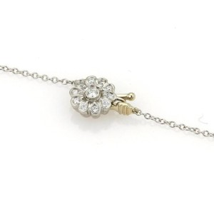 Tiffany & Co. Platinum & 0.55ct Diamond Floral Lariat Necklace